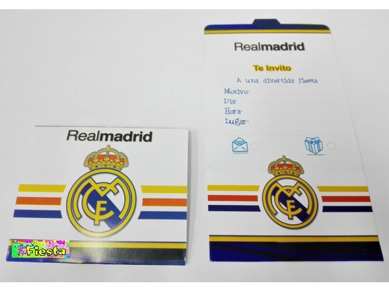 Tarjetas De Invitación Real Madrid Tarjetas De Invitación