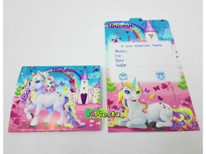 Tarjetas De Invitación Unicornio Tarjetas De Invitación
