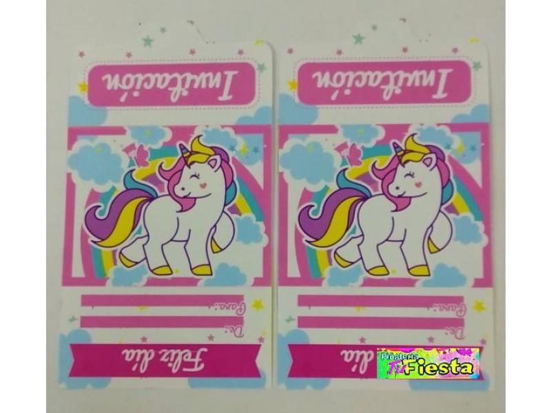 Tarjetas De Invitacion Unicornio Hlm Tarjetas De Invitacion
