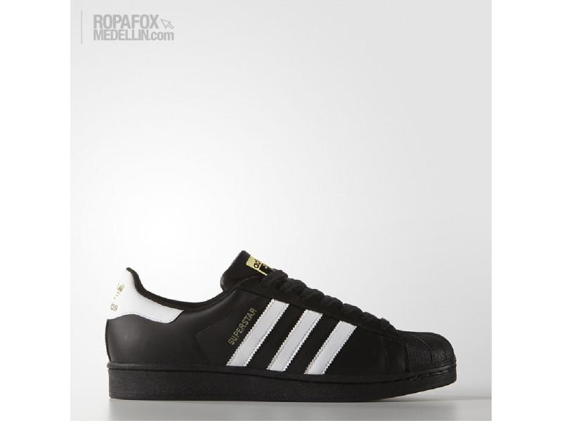 54244224e Tenis Adidas Originals Superstar Black White Gold  REF - 3667