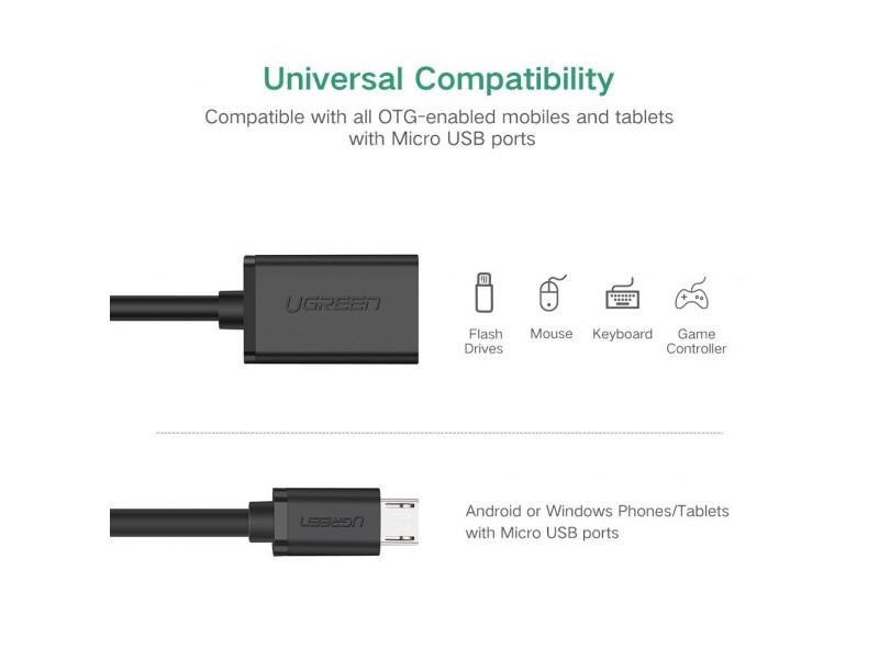 f9cf6997c4f Ugreen Adaptador Otg Micro Usb 2.0 Plano Para Celular Tablet: UGREEN ...