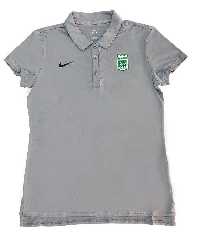 0da9de8ffb941 Camiseta polo gris dama Nike 2019