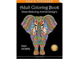 Imagen Adult coloring book: Stress relieving animal designs