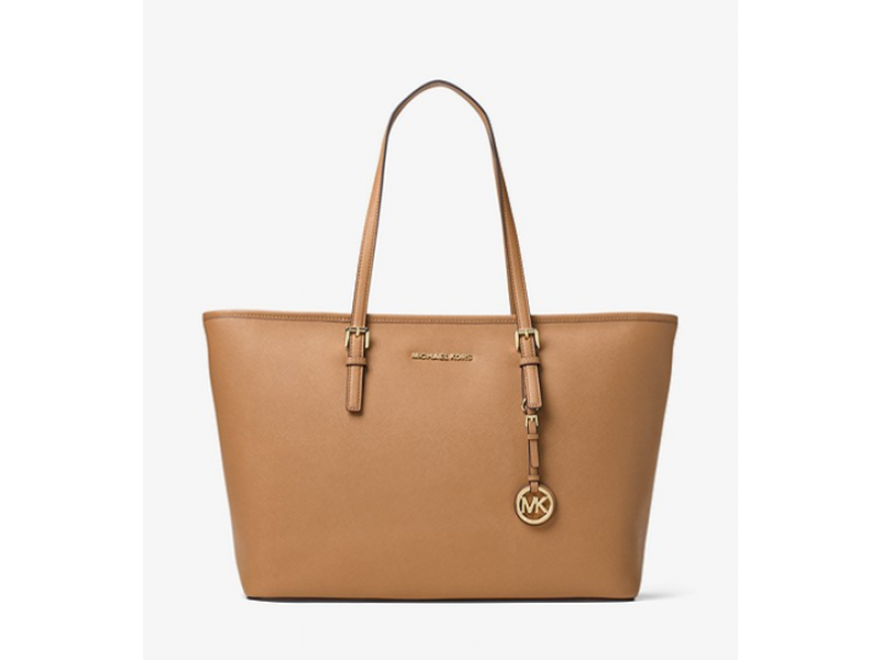 Imagen BOLSO MICHAEL MICHAEL KORS Jet Set Travel Medium Saffiano Leather Top-Zip Tote 100%Original 2