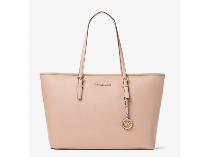 Imagen BOLSO MICHAEL MICHAEL KORS Jet Set Travel Medium Saffiano Leather Top-Zip Tote 100%Original 4