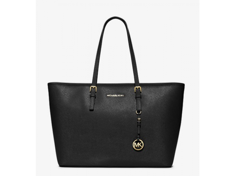 Imagen BOLSO MICHAEL MICHAEL KORS Jet Set Travel Medium Saffiano Leather Top-Zip Tote 100%Original 5