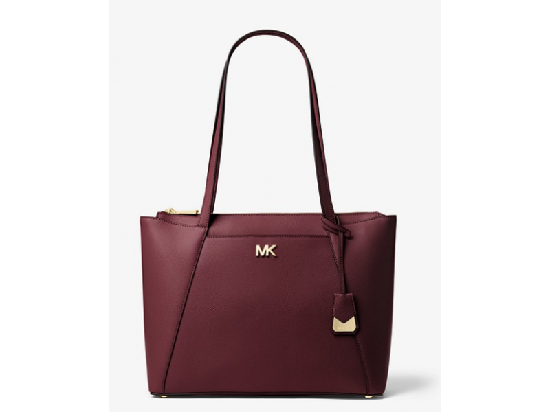 Imagen BOLSO MICHAEL MICHAEL KORS Maddie Medium Crossgrain Leather Tote 100% Original 2
