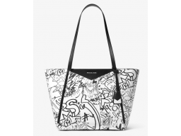 Imagen BOLSO MICHAEL MICHAEL KORS Whitney Large Graffiti Leather Tote 100% Original
