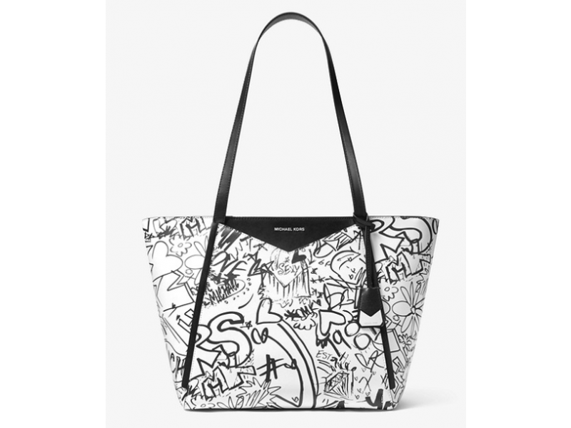 Imagen BOLSO MICHAEL MICHAEL KORS Whitney Large Graffiti Leather Tote 100% Original 1