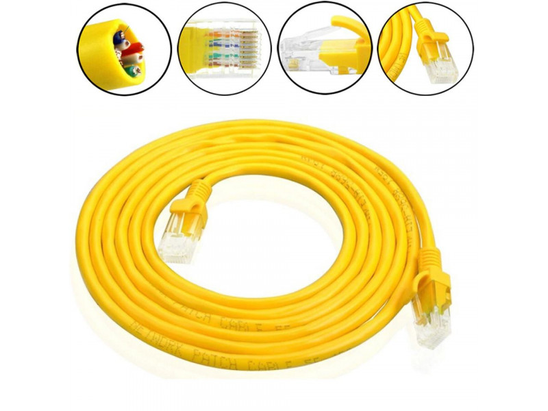 Imagen Cable De Red Patch Cord 10 Metros Categoria 6e Terminal Rj45 1