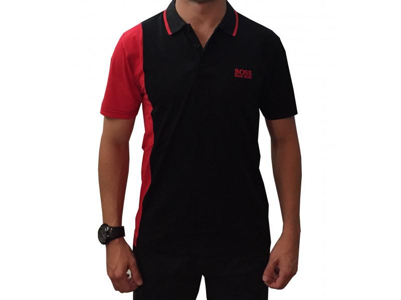 20ec06e3b3c1e Camiseta Tipo Polo Hugo Boss  BOSSRED04BLK Jdaclothes