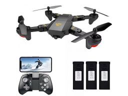 Imagen Drone Visuo Xs809hw Wifi Con 3 Baterias Video 2 Mp Plegable