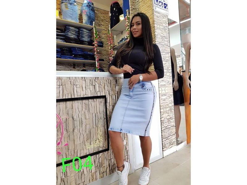 dc9213483 falda jeans 3/4 de mujer