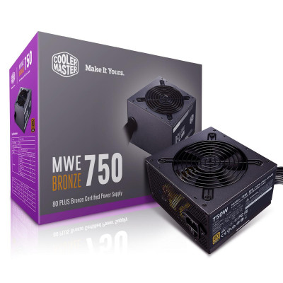 ImagenFuente Cooler Master 750 watts 80 Plus Bronze