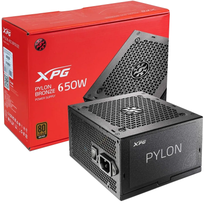 ImagenFuente XPG 650 WATTS PYLON 80 Plus Bronze