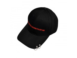 Imagen Gorra Béisbol Unisex You Never Understand Me Color Negro