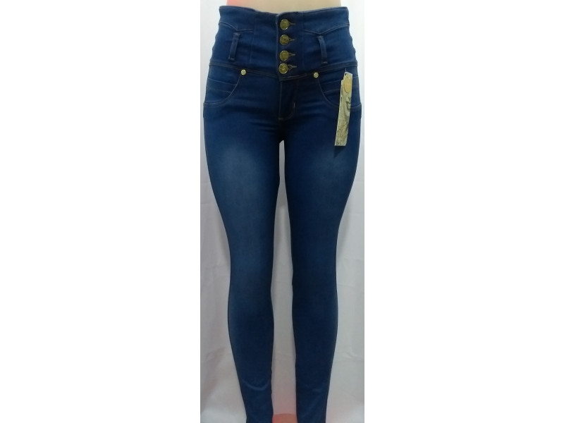 Jeans Estrech Para Mujer Tiro Alto Levanta Cola Jd0053 Fashion And Style