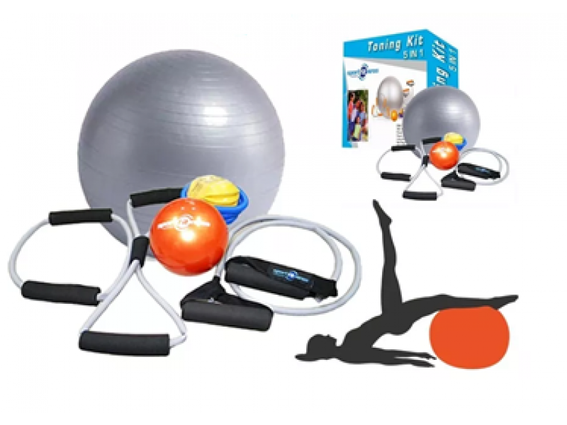 Kit Pilates Yoga 5 En 1 Ejercicio Gym Tonifica Fisioterapia  70131 ... fad059b463fa
