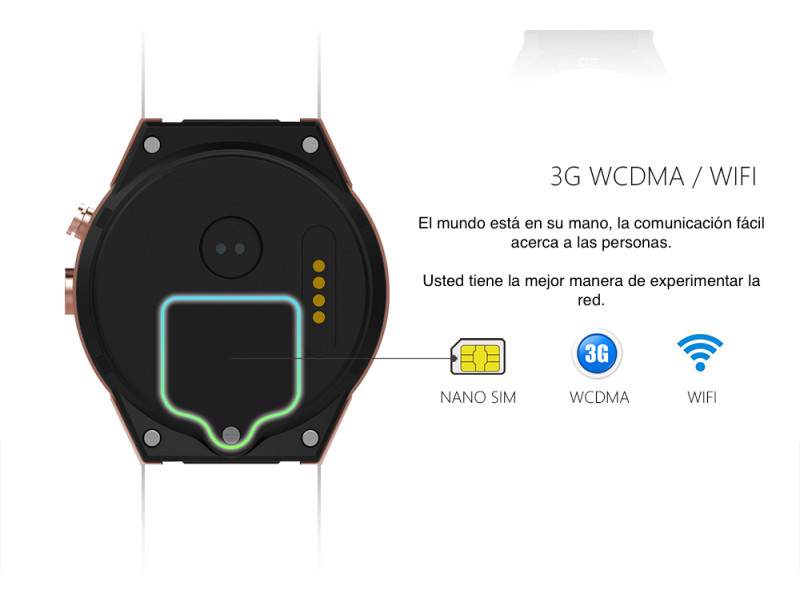 Imagen LEMFO KW88 Smartwatch Android 5.1 Bluetooth GPS 512MB+4 - Colores Varios 5