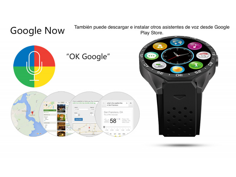 Imagen LEMFO KW88 Smartwatch Android 5.1 Bluetooth GPS 512MB+4 - Colores Varios 7