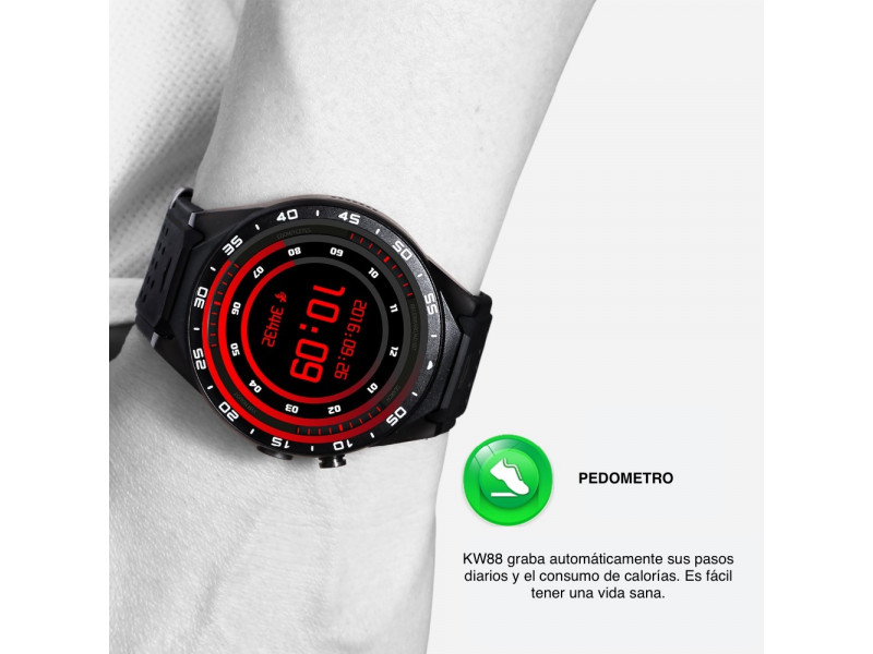 Imagen LEMFO KW88 Smartwatch Android 5.1 Bluetooth GPS 512MB+4 - Colores Varios 8