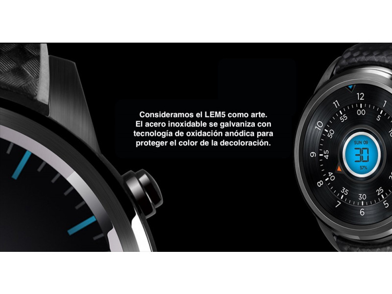 Imagen LEMFO LEM5 Smartwatch Android 5.1 Bluetooth 1GB+8  - Colores Varios 5