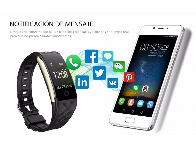 Imagen LEMFO S2 Smartband Android 4.3 Bluetooth Impermeable - Colores Varios 2
