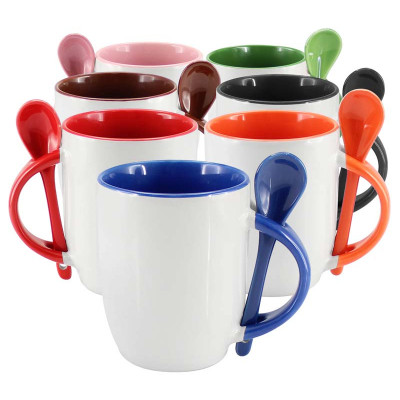 ImagenMug color interno con cuchara