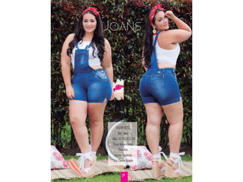 Overol Braga Short De Mujer Tallas Grandes Vero Colombiamoda Basic Trends Moda Colombia Ropa Mujer Ropahombre Tendencia Chaquetas Jeans Blusas Elegante Economica Seguro Tienda Online Moda Domicilio Gratis Pagos Contra Entrega Vestidos Blazer