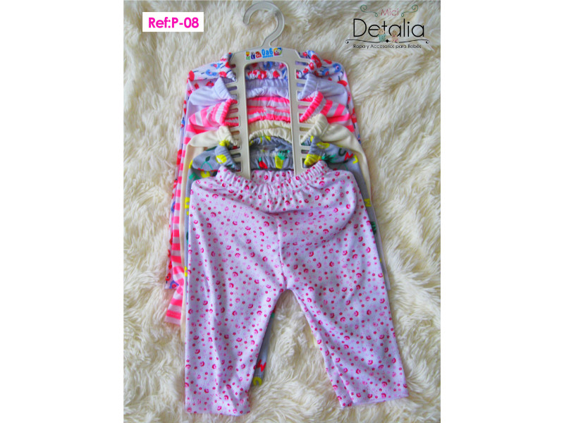 Pantalones X 6 Talla 0 A 6 Meses P X6 Mici Detalia