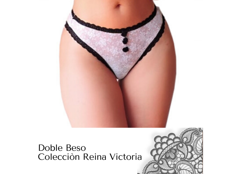 Imagen PANTY TANGA Doble Beso -Colecciòn Reina Victoria 1
