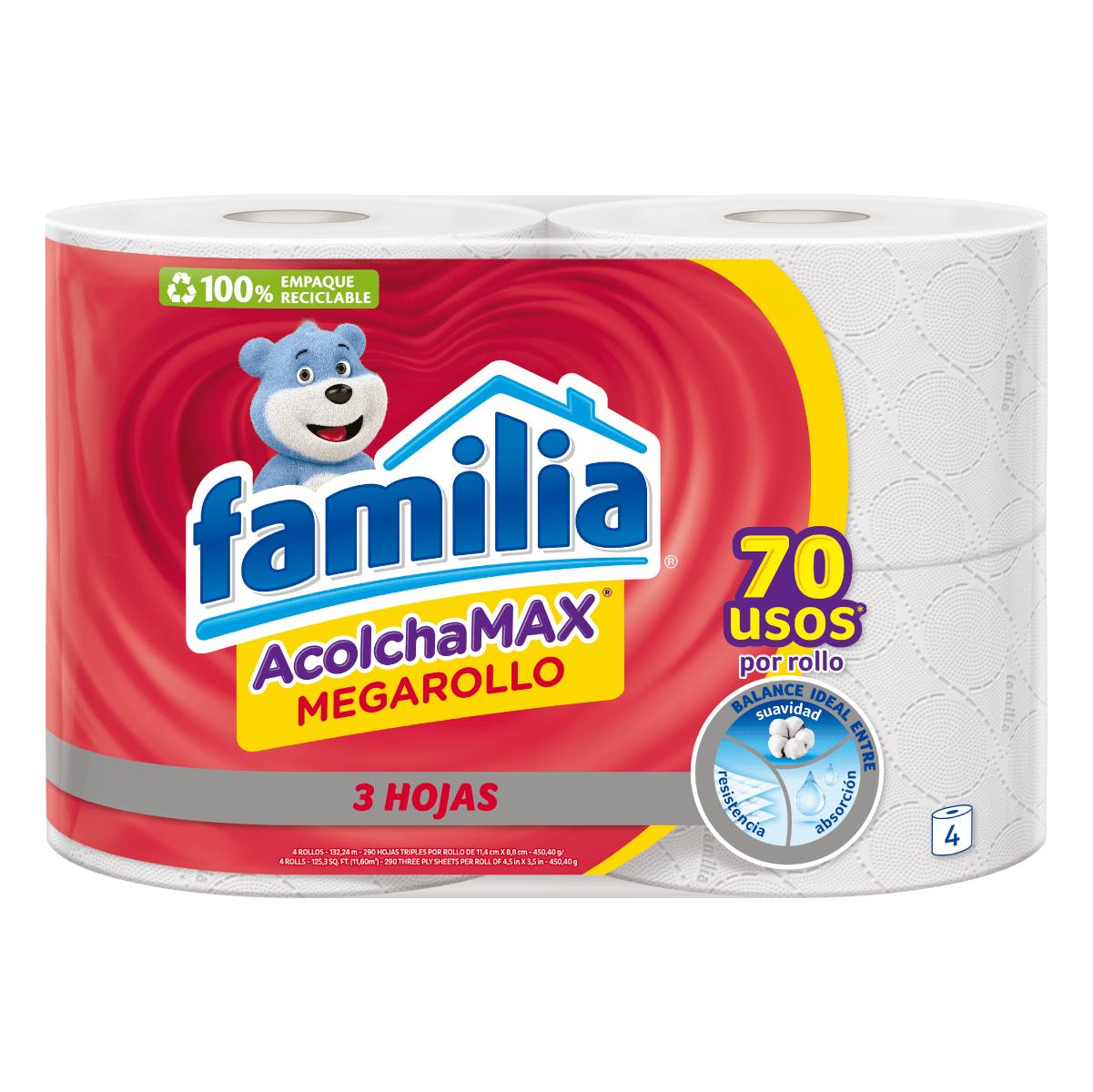 Imagen Papel Higiénico Familia AcolchaMAX MegaRollo X 4 Rollos