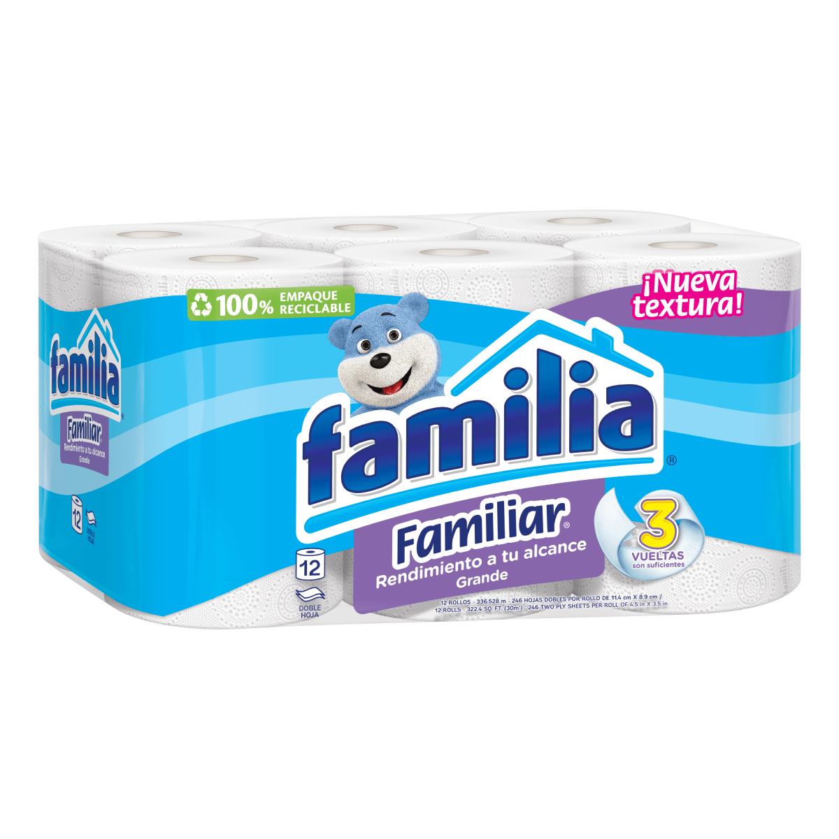 Imagen Papel Higiénico Familia Familiar X 12 Rollos