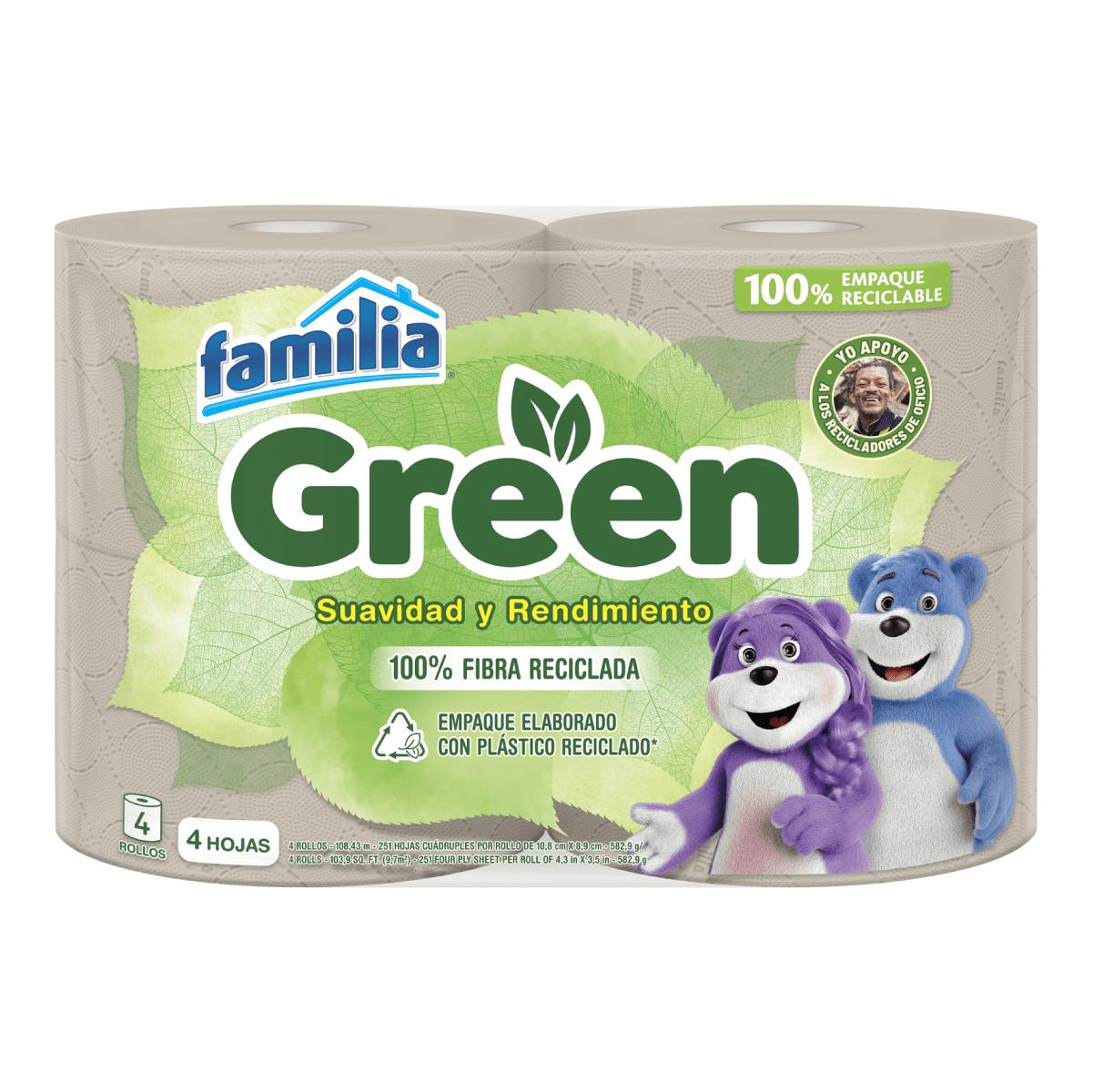 Imagen Papel Higiénico Familia Green X 4 Rollos