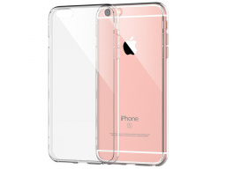 Imagen Protector Case Transparente Silicona Iphone 6 Plus