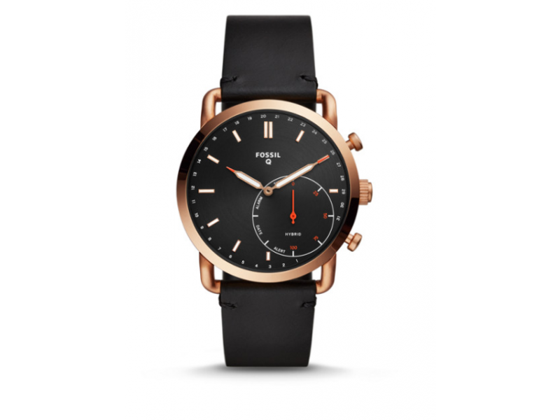 Imagen RELOJ INTELIGENTE HIBRIDO FOSSIL - Q COMMUTER BLACK LEATHER 1
