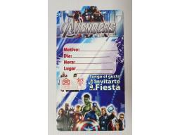 Tarjetas De Invitación Avengers