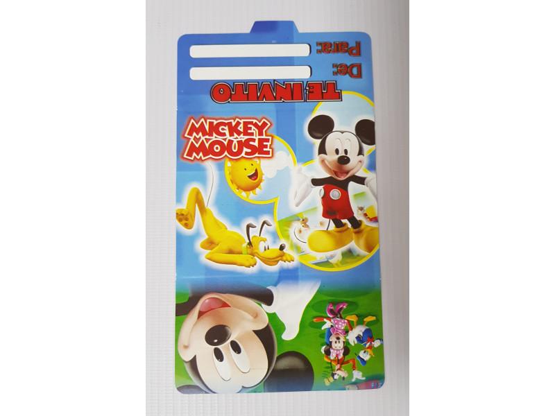 Tarjetas De Invitación Mickey 100 Tmi Happy House Mundo De