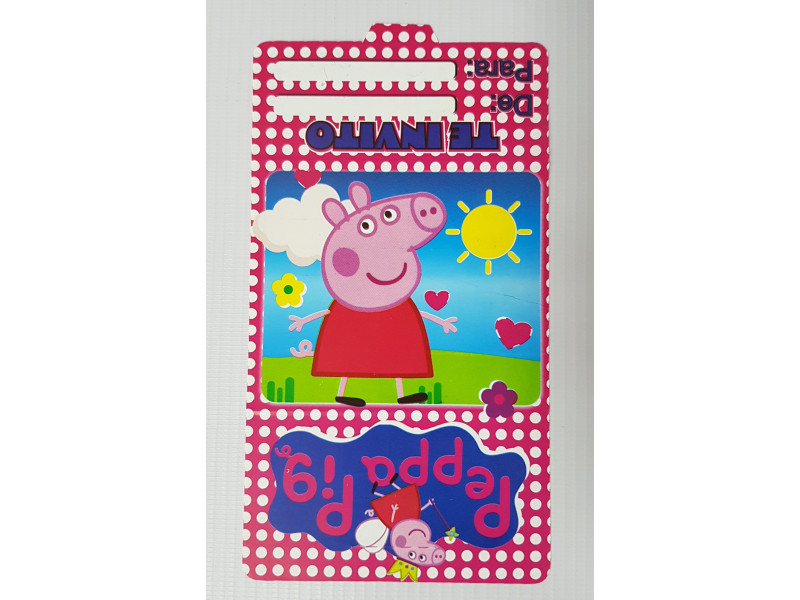 Tarjetas De Invitación Peppa Pig 100 Tpp Happy House Mundo