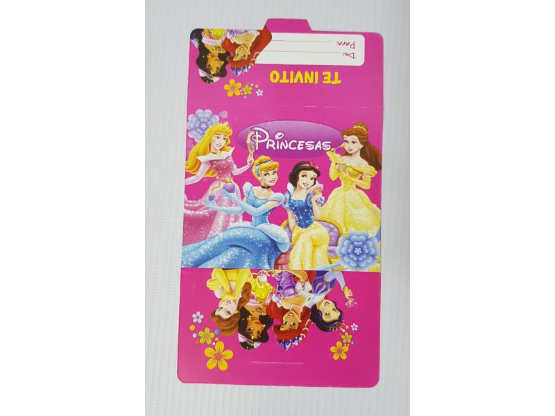 Tarjetas De Invitación Princesas 100 Tpr Happy House Mundo