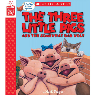 ImagenThe Three Little Pigs and the somewhat bad wolf. Mark Teague