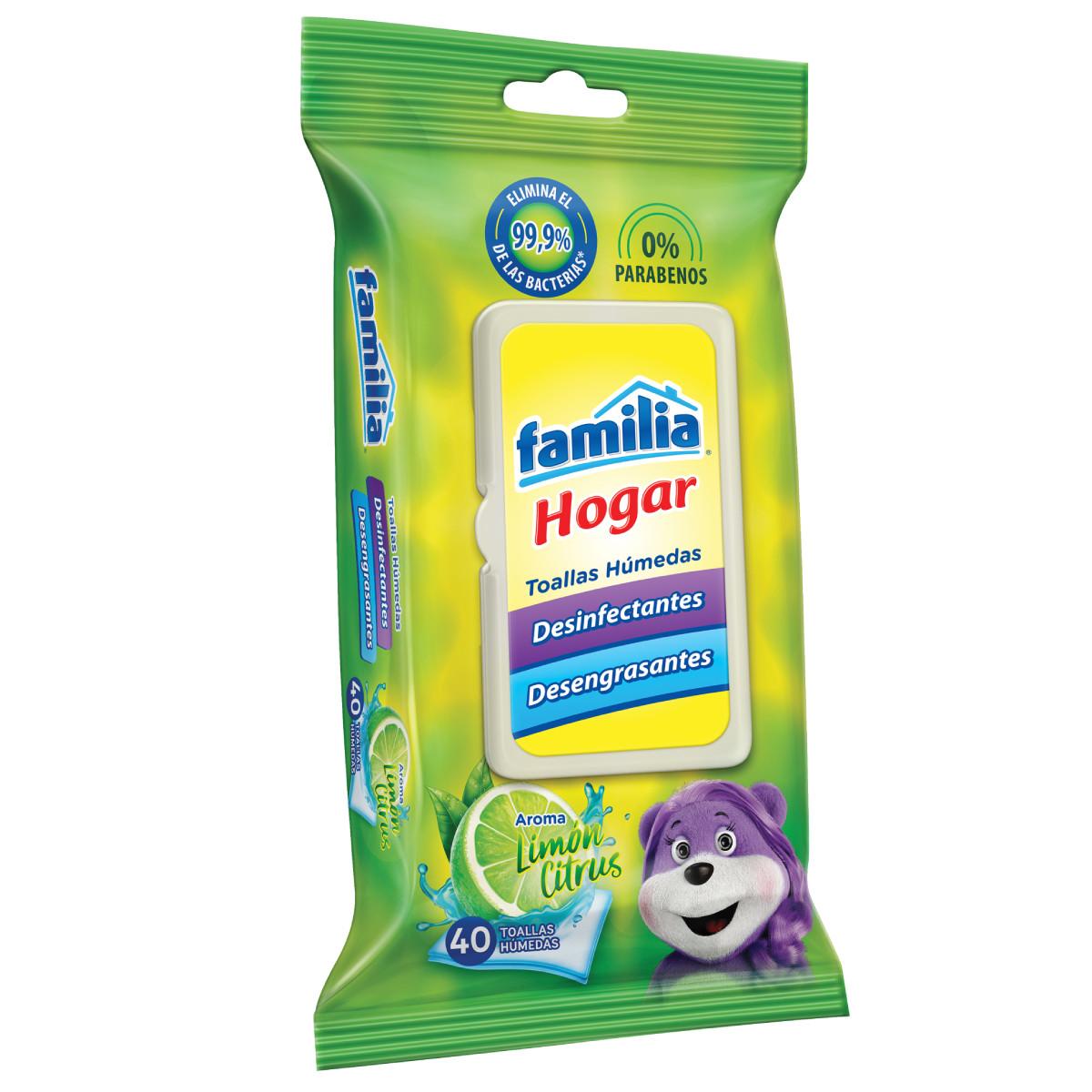 Imagen Toallas Húmedas Desinfectante Familia Hogar X 40 und
