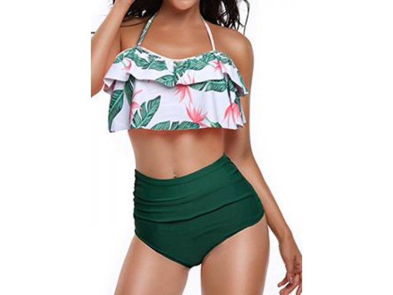 Vestido De Baño Bikini Retro Campesino